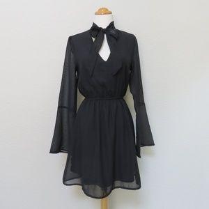 Little Black Dress - Bell Sleeves - NWOT - 6 - 70s